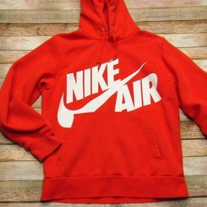 Men's Nike Orange Hoodie Sweatshirt L
